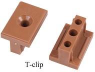 Thermo borovice - T-clip nylon (pro uchycení bez viditelných spojů) - Balení obsahuje 40 kusů (cena je uvedena za 1 balení)