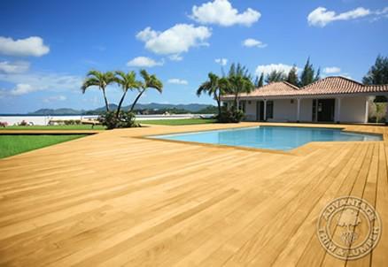 Tropické dřevo na terasy